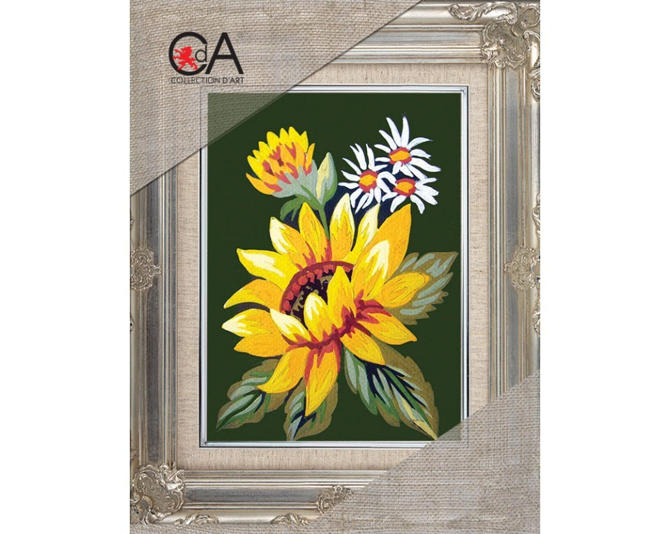 craftvim tapestry printed canvas sunflower and daisies