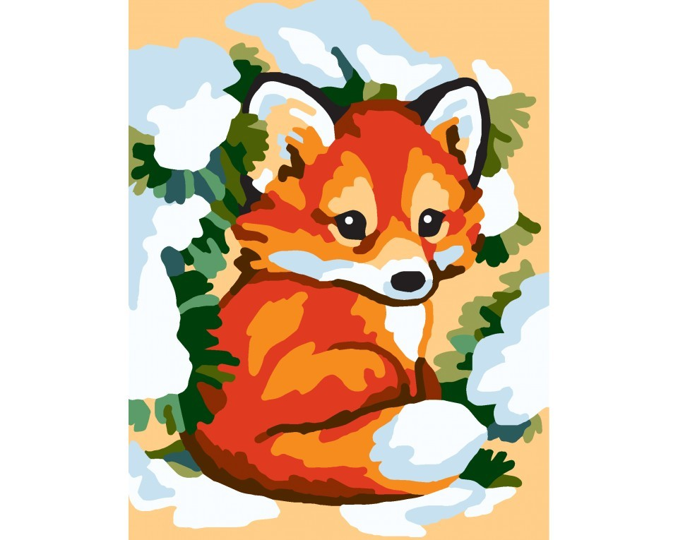 craftvim tapestry printed canvas kit cute fox forest