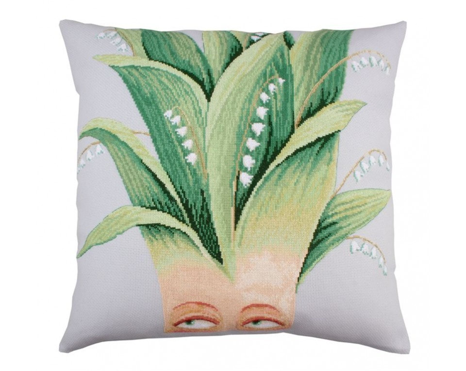 craftvim cross stitch cushion kit lilies of the valley rto