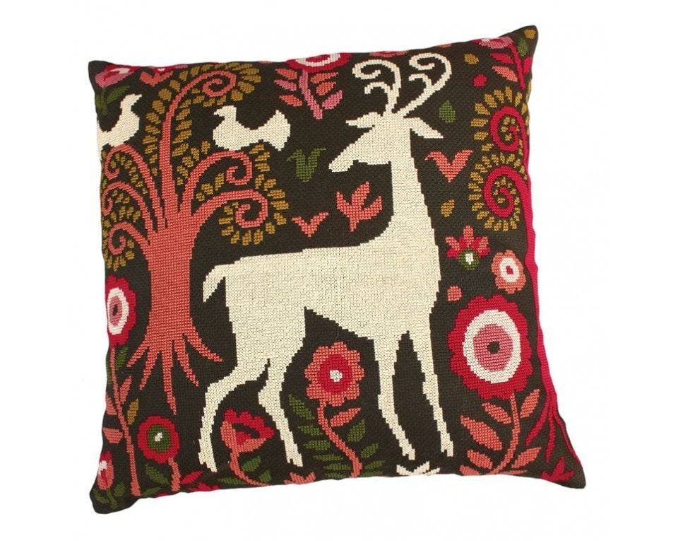 craftvim cross stitch cushion kit deer in forest rto