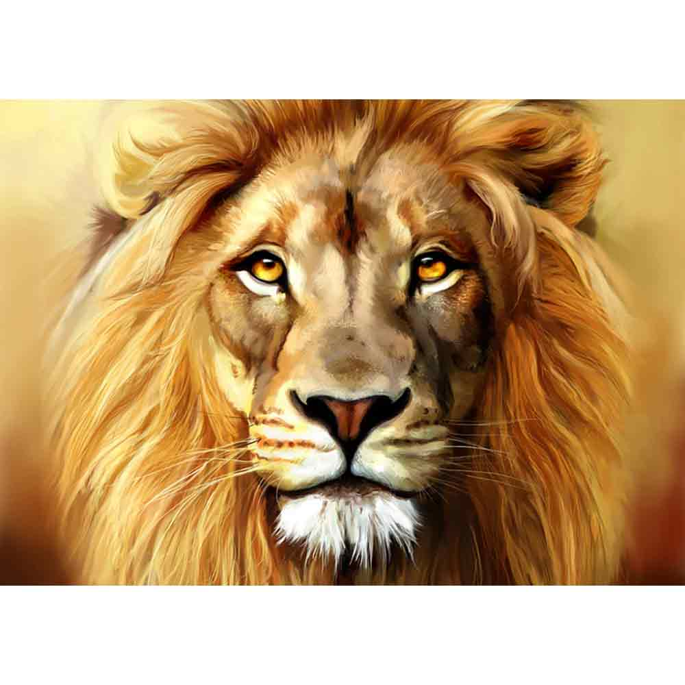 craftvim diamond painting kit lion face