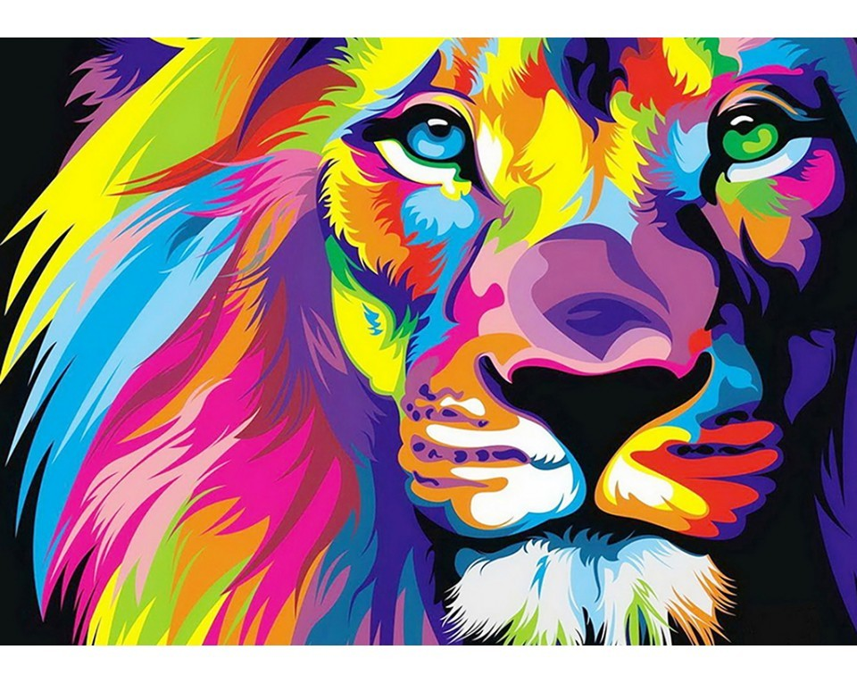 craftvim diamond painting kit rainbow lion